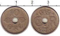 Изображение Монеты Дания 10 эре 1924 Медно-никель XF Кристиан Х
