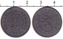 Изображение Монеты Бельгия 10 сантимов 1916 Цинк XF