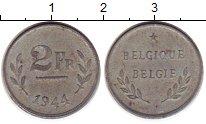 Изображение Монеты Бельгия 2 франка 1944 Цинк XF