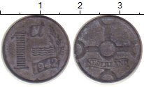 Изображение Монеты Нидерланды 1 цент 1942 Цинк VF