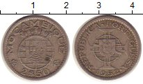 Изображение Монеты Мозамбик 2 1/2 эскудо 1952 Медно-никель XF Португальская колони