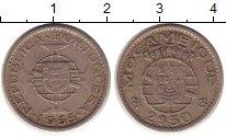 Изображение Монеты Мозамбик 2 1/2 эскудо 1955 Медно-никель XF