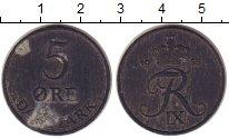 Изображение Монеты Дания 5 эре 1955 Цинк VF