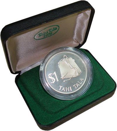 Изображение Подарочные монеты Токелау Тулума 1979 Серебро Proof Монета номиналом 1 т