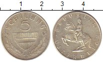 Изображение Монеты Австрия 5 шиллингов 1966 Серебро XF