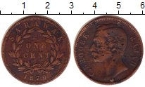 Изображение Монеты Малайзия Саравак 1 цент 1870 Медь VF