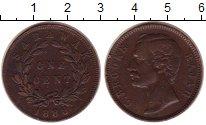 Изображение Монеты Саравак 1 цент 1888 Медь XF Раджа  К. Брук.