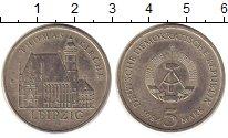 Изображение Монеты ГДР 5 марок 1984 Медно-никель XF Лейпциг.  Кирха  Свя