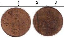 Изображение Монеты Швеция 1/2 эре 1857 Медь
