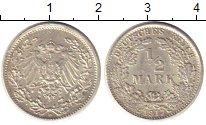 Изображение Монеты Германия 1/2 марки 1917 Серебро