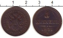 Изображение Монеты Австрия 1 крейцер 1851 Медь