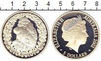 Изображение Монеты Австралия 5 долларов 2002 Серебро Proof Елизавета II.  Корол