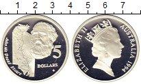 Изображение Монеты Австралия 5 долларов 1994 Серебро Proof