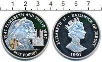 Изображение Монеты Остров Джерси 5 фунтов 1997 Серебро Proof