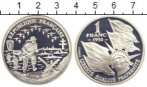 Изображение Монеты Франция 1 франк 1993 Серебро Proof