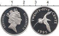 Изображение Монеты Бермудские острова 25 центов 1995 Серебро Proof