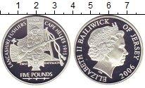 Изображение Монеты Остров Джерси 5 фунтов 2006 Серебро Proof