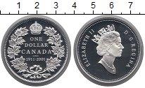 Изображение Монеты Канада 1 доллар 2001 Серебро Proof
