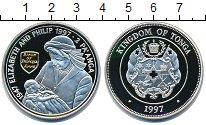 Изображение Монеты Тонга 2 паанга 1997 Серебро Proof