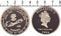 Изображение Монеты Бермудские острова 2 доллара 1994 Серебро Proof