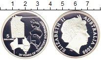 Изображение Монеты Австралия 5 долларов 2008 Серебро Proof Территории Австралии