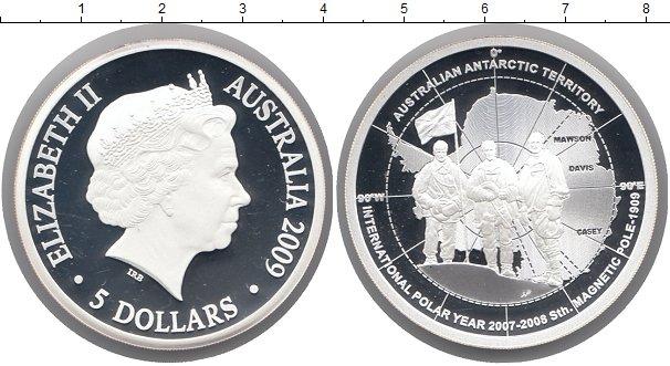 Картинка Монеты Австралия 5 долларов Серебро 2009