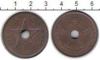 Изображение Монеты Бельгийское Конго 5 сантимов 1888 Бронза UNC-