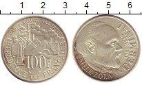 Изображение Монеты Франция 100 франков 1985 Серебро XF Эмиль Золя
