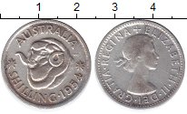 Изображение Монеты Австралия 1 шиллинг 1954 Серебро XF-