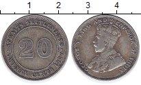 Изображение Монеты Стрейтс-Сеттльмент 20 центов 1927 Серебро XF-