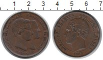 Изображение Монеты Бельгия 10 сантим 1853 Бронза XF