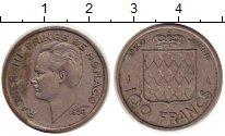 Изображение Монеты Монако 100 франков 1956 Медно-никель VF Ранье III