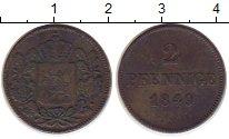 Изображение Монеты Бавария 2 пфеннига 1849 Медь VF