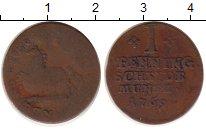 Изображение Монеты Брауншвайг-Вольфенбюттель 1 пфенниг 1769 Медь VF Карл I