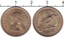 Изображение Монеты Новая Зеландия 6 пенсов 1964 Медно-никель UNC