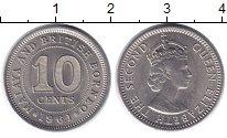 Изображение Монеты Малайя 10 центов 1961 Медно-никель UNC