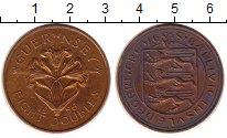 Изображение Монеты Гернси 8 дублей 1956 Бронза XF Цветы.