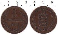 Изображение Монеты Гернси 8 дублей 1914 Бронза XF