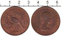 Изображение Монеты Новая Зеландия 1 пенни 1964 Бронза XF