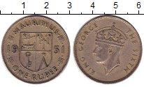 Изображение Монеты Маврикий 1 рупия 1951 Медно-никель XF