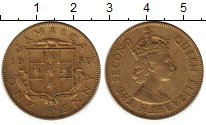 Изображение Монеты Ямайка 1 пенни 1959 Латунь XF