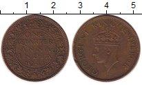 Изображение Монеты Индия 1/4 анны 1941 Бронза XF