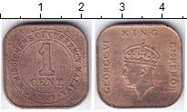 Изображение Монеты Малайя 1 цент 1939 Бронза XF