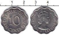 Изображение Монеты Маврикий 10 центов 1971 Медно-никель UNC