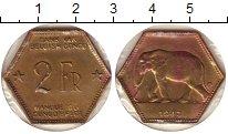 Изображение Монеты Бельгийское Конго 2 франка 1943 Латунь XF-