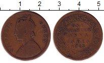 Изображение Монеты Индия 1/4 анны 1862 Бронза VF
