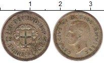 Изображение Монеты Великобритания 3 пенса 1942 Серебро XF-
