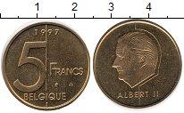 Изображение Монеты Бельгия 5 франков 1997 Латунь UNC