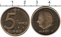 Изображение Монеты Бельгия 5 франков 1999 Латунь UNC