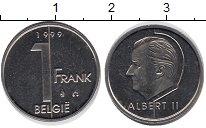 Изображение Монеты Бельгия 1 франк 1999 Медно-никель UNC